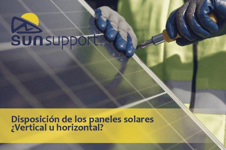 Disposición de los paneles solares ¿vertical u horizontal?