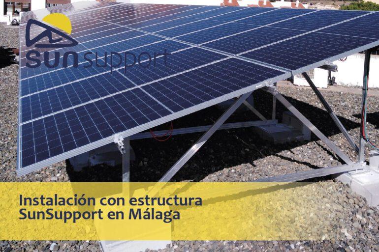 Instalación con estructura SunSupport en Málaga