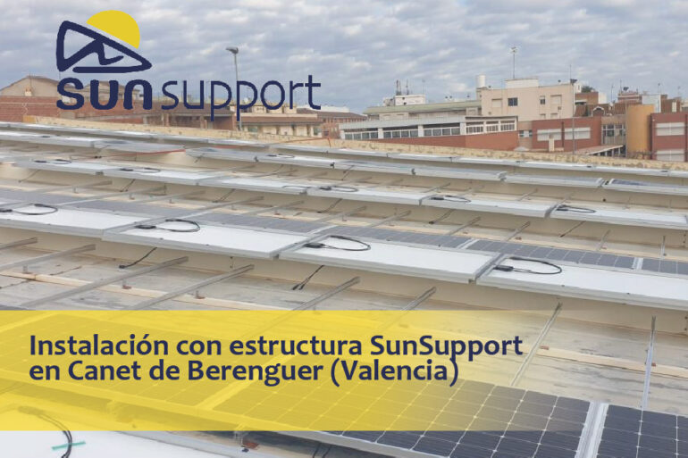 Instalación fotovoltaica con estructura SunSupport en Valencia