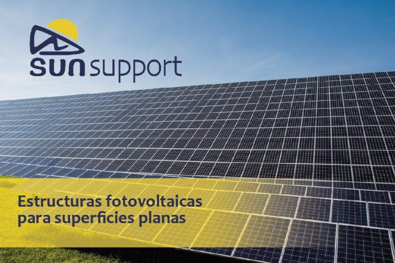 Estructuras fotovoltaicas para superficies planas
