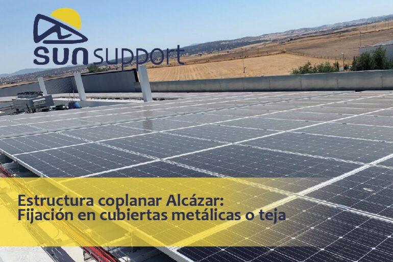 Estructura coplanar Alcázar: Fijación en cubiertas metálicas o teja