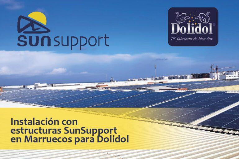 Instalación en Marruecos con estructuras SunSupport para Dolidol
