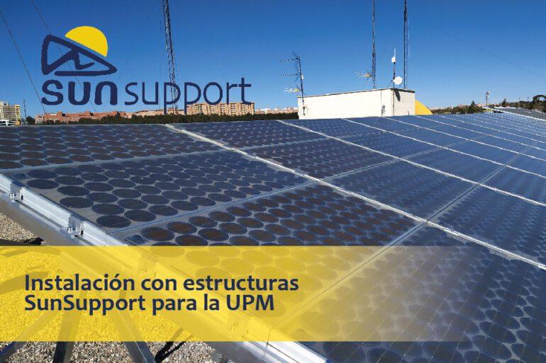 Instalación con estructuras SunSupport para la Universidad Politécnica de Madrid