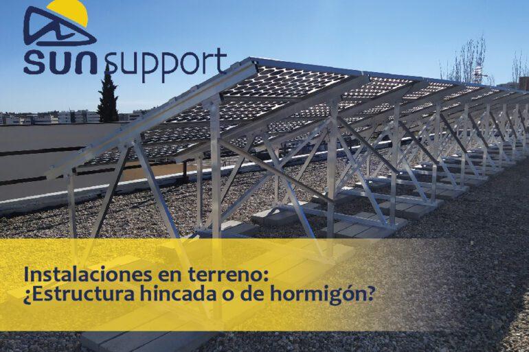 Instalaciones en terreno: ¿Estructura hincada o de hormigón?