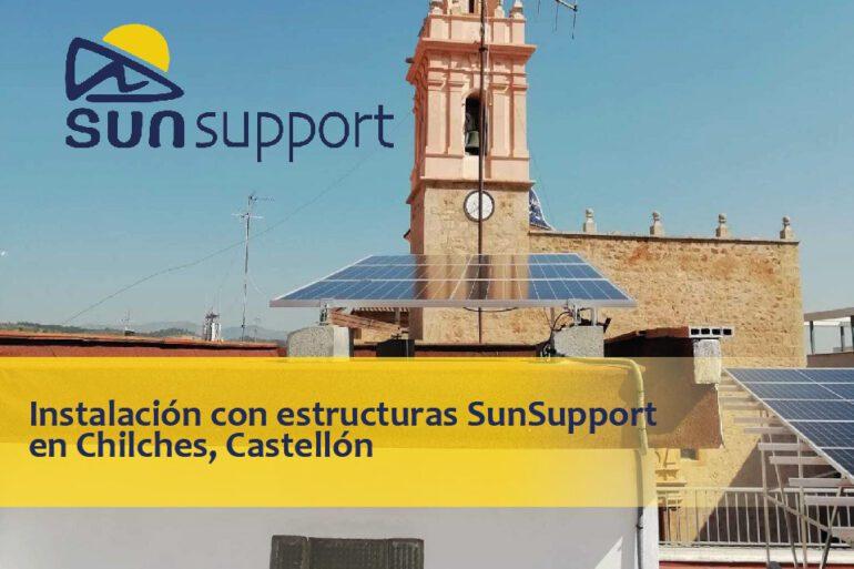 Instalación con estructuras SunSupport en Chilches, Castellón