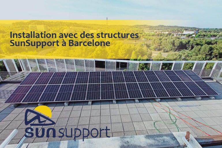 Installation avec les structures SunSupport à Barcelone
