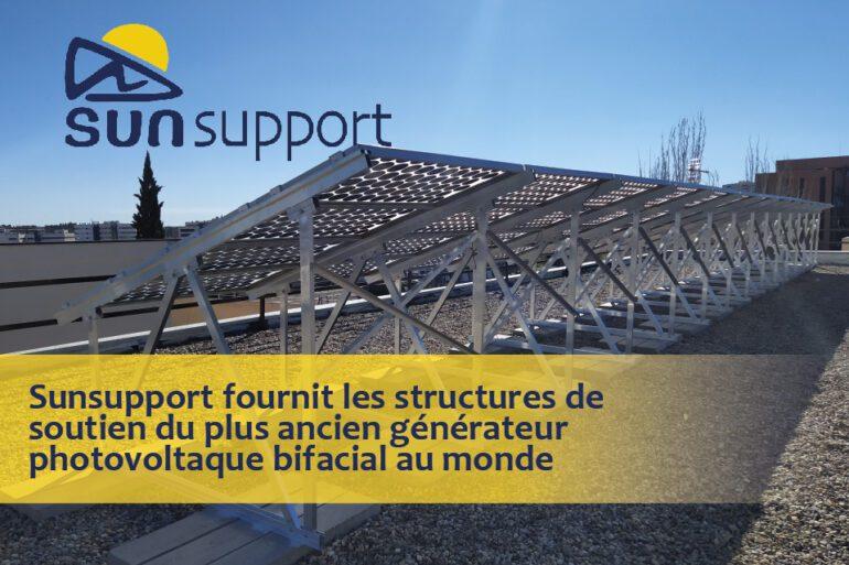 SunSupport a fourni les structures de support pour le projet, qui comporte le plus ancien générateur PV bifacial du monde.