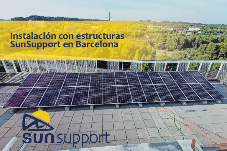 Instalación con estructuras SunSupport en Barcelona