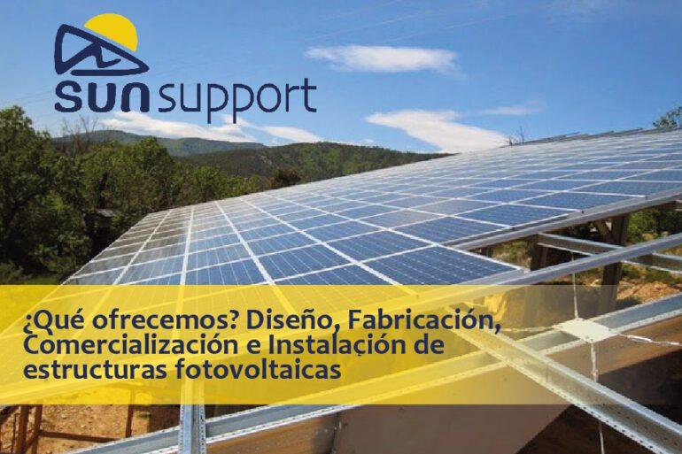 ¿Qué ofrecemos? Diseño, Fabricación, Comercialización e Instalación de estructuras fotovoltaicas