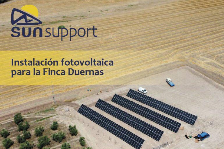 Instalación fotovoltaica desarrollada por SunSupport para la Finca Duernas