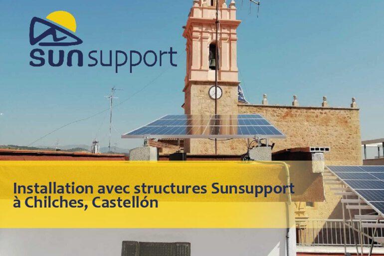 Installation avec structures Sunsupport à Chilches, Castellón