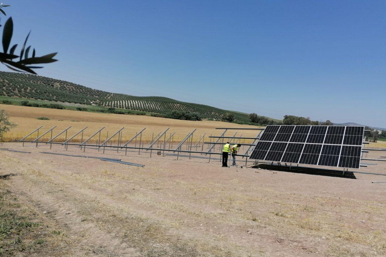 montaje instalación fotovoltaica hincada sunsupport