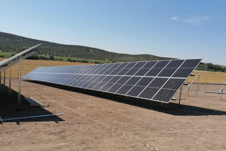 montaje instalación fotovoltaica hincada sunsupport en finca duernas