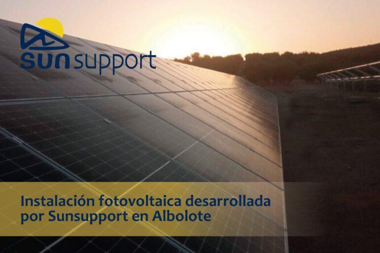 Instalación fotovoltaica desarrollada por Sunsupport en Albolote