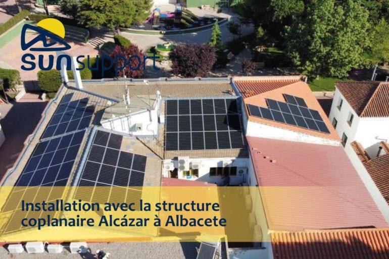 Installation avec la structure coplanaire Alcázar à Albacete