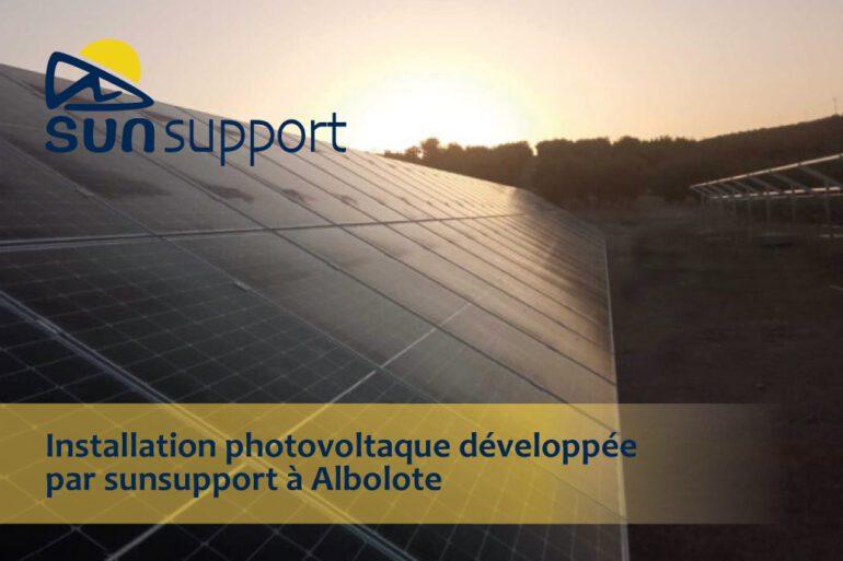 Installation photovoltaque développée par sunsupport à Albolote