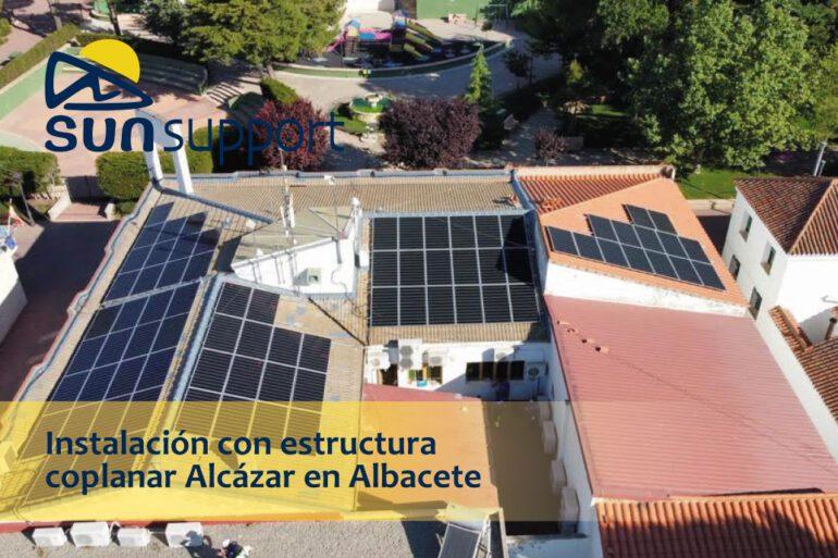 Instalación con estructura coplanar Alcázar en Albacete