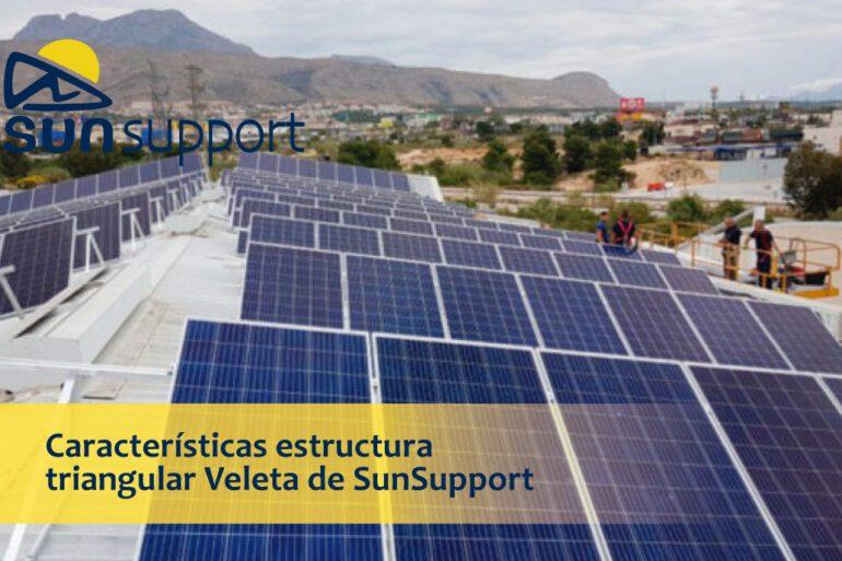 Características estructura triangular Veleta de SunSupport