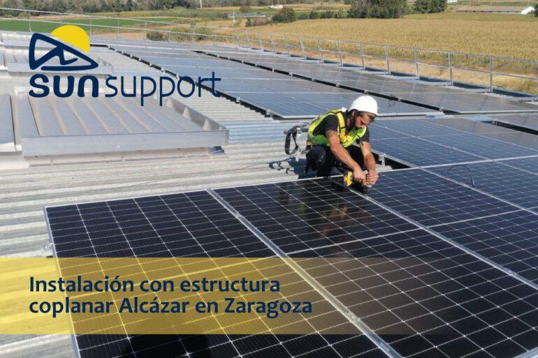 Instalación con estructura coplanar Alcázar en Zaragoza